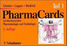 Pharmakards - Set / Lernkartensystem Pharmakologie und Toxikologie: PharmaCards, Tl.1, Kapitel 01-14