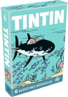 Tintin : l'oreille cassée ; l'île noire ; le sceptre d'ottokar ; le crabe aux pinces d'or ; le secret de la licorne ; .. [FR Import]