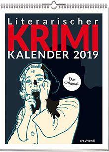 Wochenwandkalender: Literarischer Krimi-Kalender 2019. Vierfarbig, Format 24 x 32 cm
