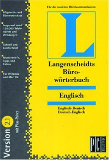 Langenscheidts Büro-Wörterbuch Englisch 2.1 mit Pluspaket, 1 CD-ROM Englisch-Deutsch, Deutsch-Englisch. Für Windows 3.1/NT 3.51/95/98 und MacOS 7.5. Rund 130.000 Stichwörter u. Wendungen