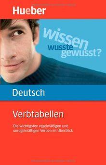 Verbtabellen Deutsch: Die wichtigsten regelmäßigen und unregelmäßigen Verben im Überblick