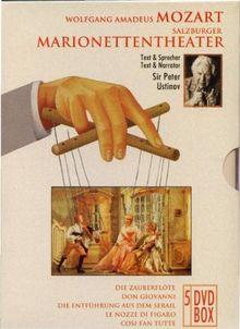 Mozart - Salzburger Marionettentheater / Die Zauberflöte / Don Giovanni / Die Entführung aus dem Serail / Le Nozze di Figaro / Cosi fan Tutte - Box [5 DVDs]