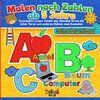 Malen nach Zahlen ab 5 Jahre – Buchstaben lernen: Kreativ das Alphabet lernen mit tollen Tieren und weiteren Motiven zum Ausmalen – Spaßiges Malbuch für Kinder zur Vorschule und zum Schulanfang