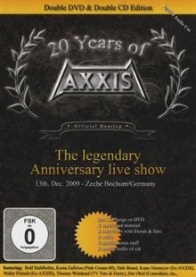 20 Years Of Axxis: The Legendary Anniversary Live Show. 2 CDs + 2 DVDs