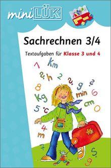 miniLÜK: Sachrechnen 3/4: Textaufgaben für Klasse 3 und 4: Textaufgaben für die 3./4. Klasse