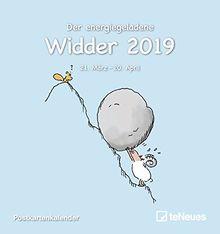 Sternzeichen Widder 2019 - Sternzeichenkalender, Horoskop, Postkartenkalender 2019 - 16 x 17 cm